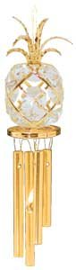 24K Gold Plated Wind Chime Sun Catcher or Ornament..... Pineapple With Clear Swarovski Austrian Crystal -  Mascot International Inc, Berkeley, CA, 4126166