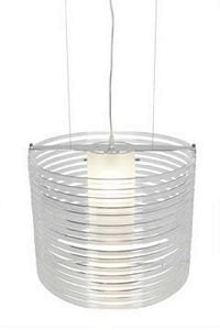"Enzo 1-Light Pendant Shade Color: Acrylic, Size: 130"" H x 16.25"" W x 16.25"" D 55526-CH/ACLR"