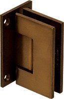Crl Shower Door Hinge (C.R. LAURENCE GEN0370RB CRL Oil Rubbed Bronze Geneva 037 Series Wall Mount Full Back Plate Standard Hinge)