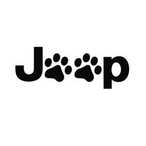 Jeep Logo w/ Dog Paws PREMIUM Decal 5 inch Whtie | Wrangler | Rubicon | Cherokee | Sahara | 4x4 | Offroad | Girl Jeep | car truck van laptop macbook bumper sticker