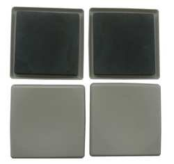Industrial Grade 10G208 Slider, Square, Self-Stick, 5 In., PK 4 by Industrial Grade