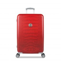 suitsuit leicht Spinner Koffer Lippenstift Rot Krokodil (61cm mittel Größe)–Plus beau Perry Tasche für Life