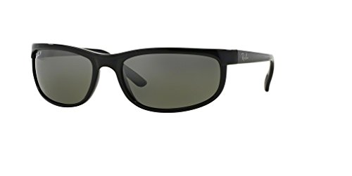 Ray-Ban RB2027 PREDATOR 2 601/W1 62M Black/Dark Grey Polarized Sunglasses For Men For Women (Rb2027 Predator 2)