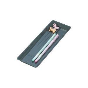 生活日用品 (業務用100セット) ペン皿 PS-21-BK 小 黒 B074JSL2KN