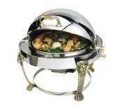 Lion Head Chafer (Eastern Tabletop Lion Head Petite Round Rolltop Chafer, 6 Quart -- 1 each.)