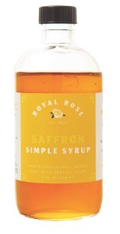 Royal Rose Saffron Simple Syrup 8oz