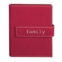 Pioneer Expressions Series Bound Mini Photo Album, Designer Style Burgundy Color Covers with Magnetic Closure Strap, Holds 36 4x6