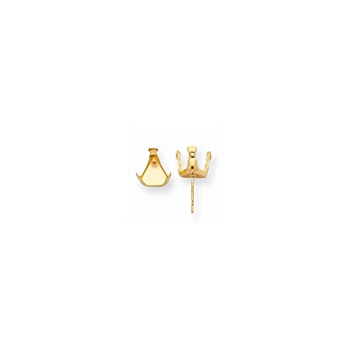 14ky Trillion Snap-In 6.0mm Earring Setting (sold as single ()