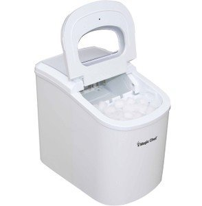 Magic Chef - MCIM22W, Portable Countertop 27-Pound Ice Maker, White