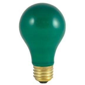 Colored Light Bulbs - Blue Green Red Light Bulbs - 60 Watt - Heat Resistant - Ceramic Light Bulb - 120 Volt Light Bulbs - E26 Base - GoodBulb (Green, 1 Pack)