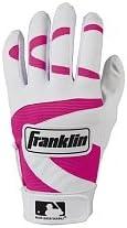 MLB Batting Gloves - Pink - Youth Medium