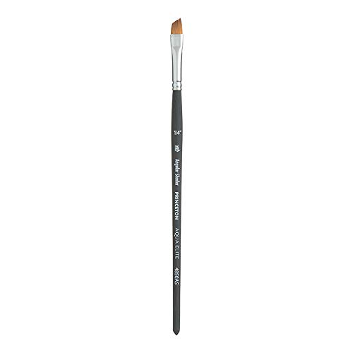 Sable Angle - Princeton Aqua Elite NextGen Artist Brush, Series 4850 Synthetic Kolinsky Sable for Watercolor, Angle Shader, Size 1/4