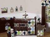 Sweet Jojo Designs 9-Piece Designer Dot Modern Baby Boys Bedding Crib (Designer Childrens Bedding)