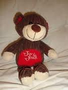 Goffa Joy in Jesus Corduroy Ribbed Teddy Bear Plush 10 Inch ()