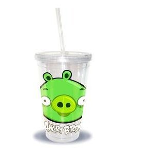 Angry Birds 16oz Tumbler with Straw Assortment (Commonwealth Games Costumes)