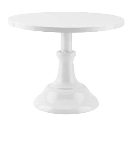 Grand baker cake stand 10 inch wedding cake tools adjustable height fondant cake display accessory for party bakeware (white)