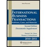 img - for International Business Transactions Document Supplement 2010-2011 (2nd, 10) by [Paperback (2010)] book / textbook / text book