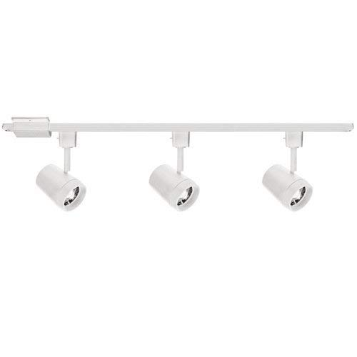 (WAC Lighting H-7011/3-930-WT H-7011/3-930-BK Oculux 3 Light H Track Luminaire Kit, White)