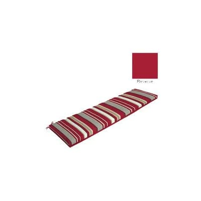 Comfort Classics Inc. Red Striped Bench Cushion 46x17x3 : Garden & Outdoor