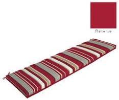 Comfort Classics Inc. Red Striped Bench Cushion 46x17x3