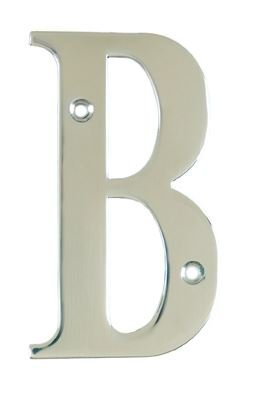 House Door Letters - Letter B - in Polished Chrome - Silver - All Door Types  sc 1 st  Amazon UK & House Door Letters - Letter B - in Polished Chrome - Silver - All ... pezcame.com