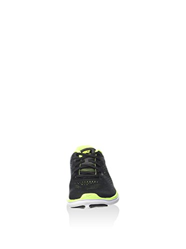 Da bianco Nero Rn Flex volt nero Uomo Metallizzato Corsa Scarpe Argento 2016 gs black Nike XwSqq