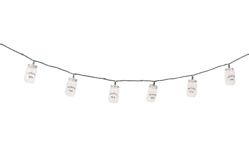 DEI Mason Jar String Lights, Clear (Outdoor Mason Jar Lights compare prices)