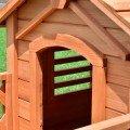 Amazon.com : Casas Para Perros Accesorios Para Perros Gatos Pequeños Madera Pura Natural Con Ventanas : Pet Supplies