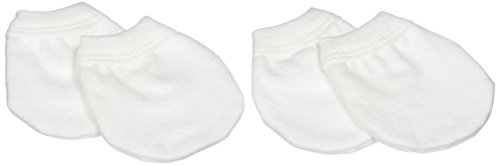 Kushies Pack Scratch Mittens White