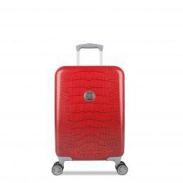SuitSuit leichter Spinner-Koffer mit Krokomuster in Lippenstift-Rot (71,1cm)–Plus Beau Perry-Tasche fürs Leben