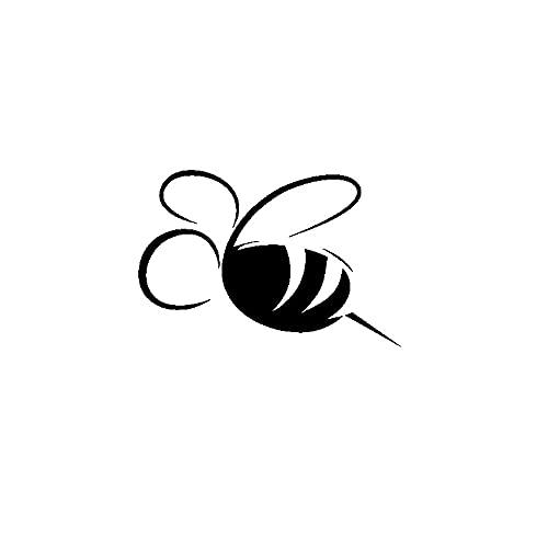 SHMAZ 13 M * 8.7 Cm Eenvoudige Dazzling Delicate Insect Honingbij Mooie Decal Cool Car Sticker Zwart/Zilver
