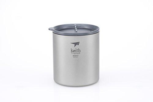 (Keith Titanium Ti3306 Double-Wall Mug with Lid - 20.3 fl oz)