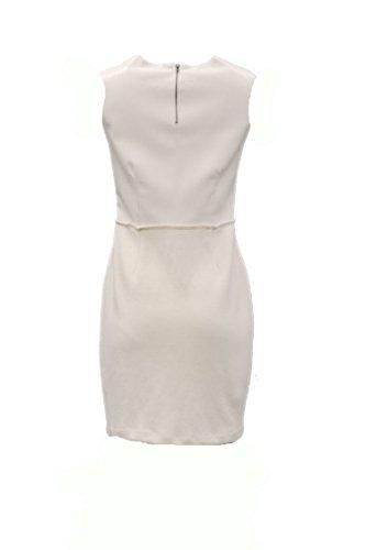 230329F CATANIA DREW amp; Leather Ivory Sz Combo Sheath Dress 8 Knit Womens Faux UZZ4w7xgq