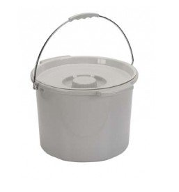 Commode Bucket with Lid 12 Quart (12 Quart Bucket)