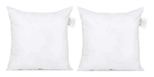 Acanva Soft Down Alternative Pillow Insert, 18 x 18, Set of