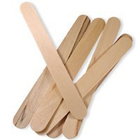 *Beauticom USA Base* Medium Wood Eye/Lip Wax Spatula Applicator 5.5'' x 1/4'' (Quantity: 1,000pcs)