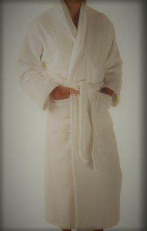 Organic unisex Bathrobe. Plush Terry soft 100% Certified ...