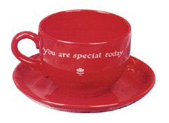 Cherry Red Jumbo Cup (Waechtersbach Jumbo Cup and Saucer, You are Special Today, Cherry)