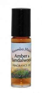 KUUMBA MADE AMBER AND SANDALWOOD 1/8 oz (Best Sandalwood Perfume Oil)