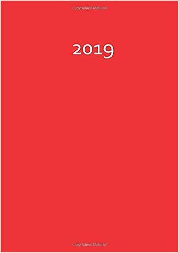 red // rot FIRE 1 Tag pro DIN A4 Seite dicker TageBuch Kalender 2019 : Endlich genug Platz f/ür dein Leben
