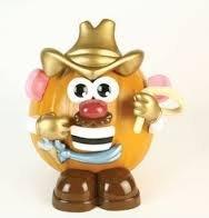 Mr Potato Head Cowboy pumpkin push-ins toy story woody like