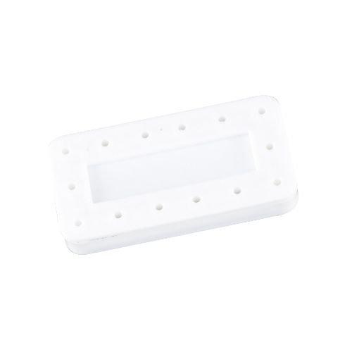 Imprint Block - Miltex 75-48 Magnetic Bur Block Without Imprint, White