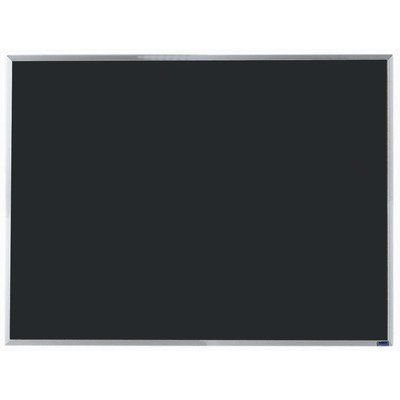 Economy Composition Wall Mounted Chalkboard Surface Color: Black, Size: 3' H x 4' W