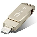 iPhone 64GB USB 3.0 Flash Drive with Lightning Connector External Storage Memory Expansion for iPads iPods Computers