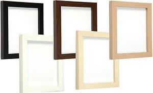 Bilderrahmen Modern amazon de tailored frames bilderrahmen modern weiß 11 x 8 5