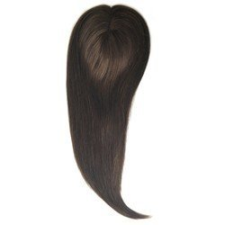 Uniwigs® Remy Human Hair Mono Hairpiece, Closure, Hand Made Tied Hair Topper, Straight 16 Inches for Hair Loss (G-4) by uniwigs