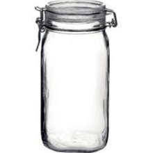 (Bormioli Rocco COMINHKR005299 Fido Clear Glass Jar with 85 mm Gasket, 1.5 Liter)