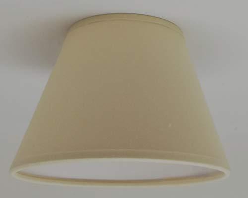 Pequeño – crema de clip On tulipa de lámpara de techo lámpara de pared lámpara de techo, hecho a mano tela de algodón,...