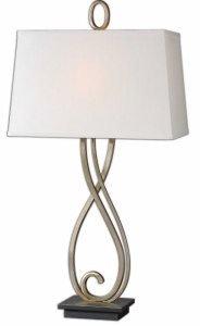Uttermost 26341 Ferndale Scroll Metal Lamp, Bronze