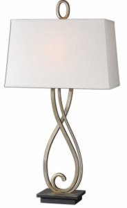 Antiqued Scroll Table Lamp - Uttermost 26341 Ferndale Scroll Metal Lamp, Bronze